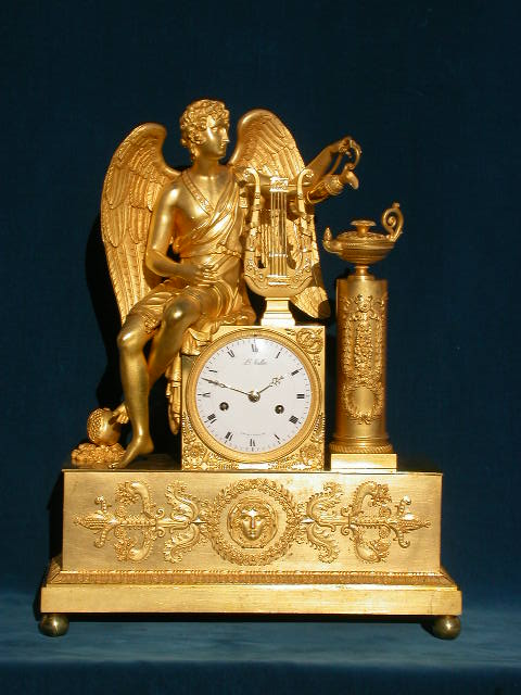Click for larger version of APOLLO, WINGED ORMOLU CLOCK Image 1