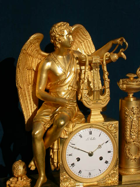Click for larger version of APOLLO, WINGED ORMOLU CLOCK Image 3
