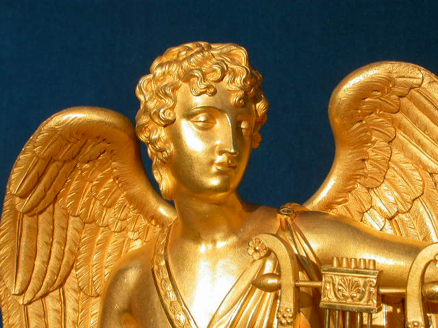 Click for larger version of APOLLO, WINGED ORMOLU CLOCK Image 2