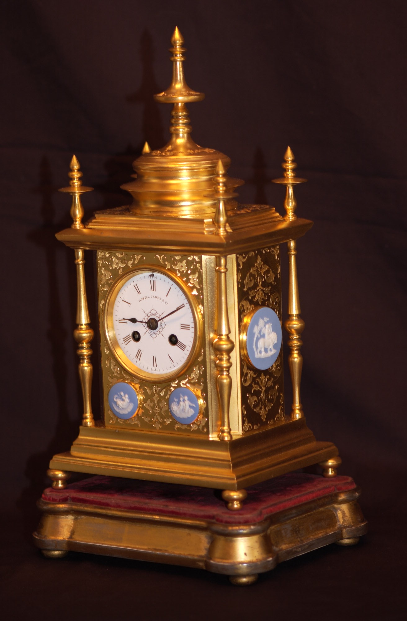 Click for larger version of HOWELL & JAMES JASPERWARE ORMOLU Image 1